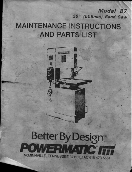 Powermatic 87
