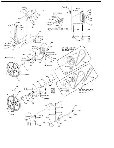 Marvel Bandsaw Parts