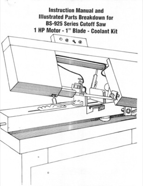 Band Saw Manual Carolina BD-925