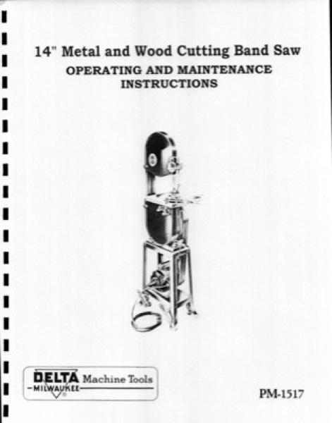 Band Saw Manual Delta W-9