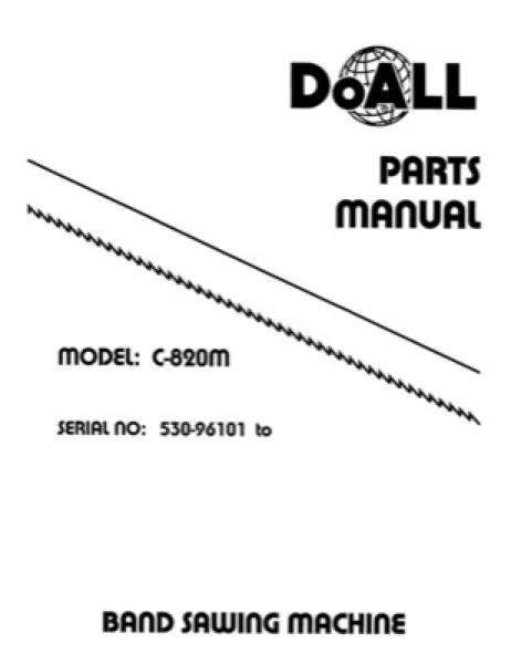 Band Saw Manual DoAll Heavy-Duty Double Column C-820M